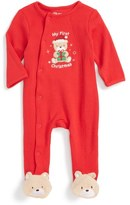 Little Me Teddy Bear Holiday Footie (Baby Boys)