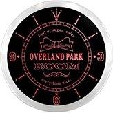 AdvPro Clock ncpe2186-r Overland Park Girl Princess Kids Room Night Light Neon Sign LED Wall Clock