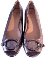 Prada Silver Leather Ballet flats