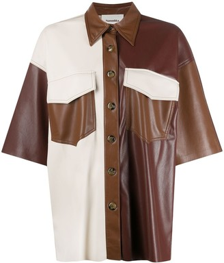 Nanushka Roque vegan leather shirt