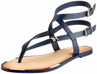 Tommy Hilfiger Women's Feminine Elastic Flat Sandal Flip Flops