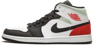 Jordan 1 Mid SE 'Red Grey Black Toe' Shoes - 7