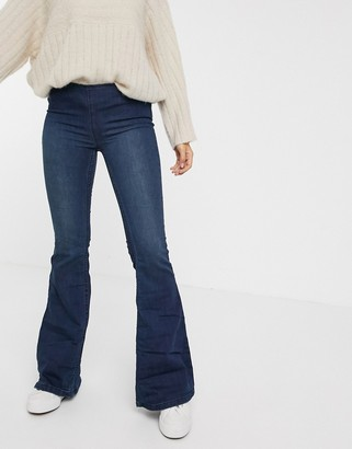 Free People Penny flare jeans in light wash blue