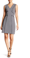 Adrianna Papell Sleeveless Knit Jacquard Sheath Dress (Regular & Petite)