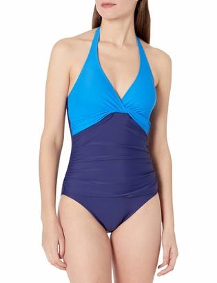 Chaps Women's Twist Halter One Piece Swimsuit