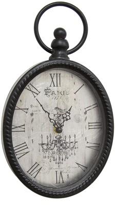 Stratton Home Black Antique Black Oval Wall Clock