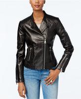 Andrew Marc Selena Leather Moto Jacket