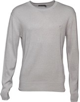 French Connection Mens 12G Crew Neck Jumper Light Grey Marl