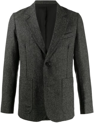 Ami Paris Lined Two-Buttons Patch Pockets Jacket