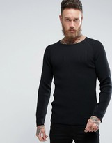 Nudie Jeans Co Oskar Mixed Ribbed Jumper