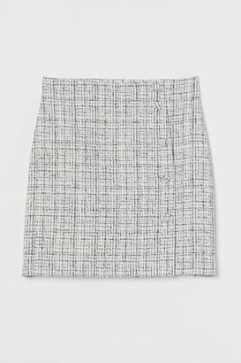 H&M Boucle mini skirt