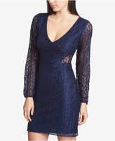 GUESS V-Neck Lace Illusion Dress