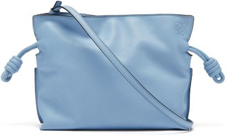Loewe Flamenco Mini Drawstring Leather Cross-body Bag - Light Blue