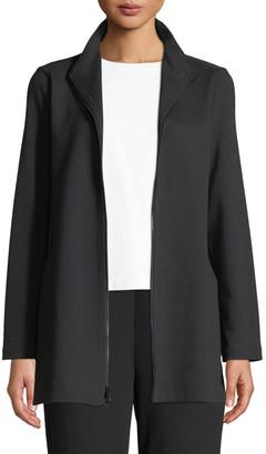 Eileen Fisher Travel Ponte Zip-Front Jacket