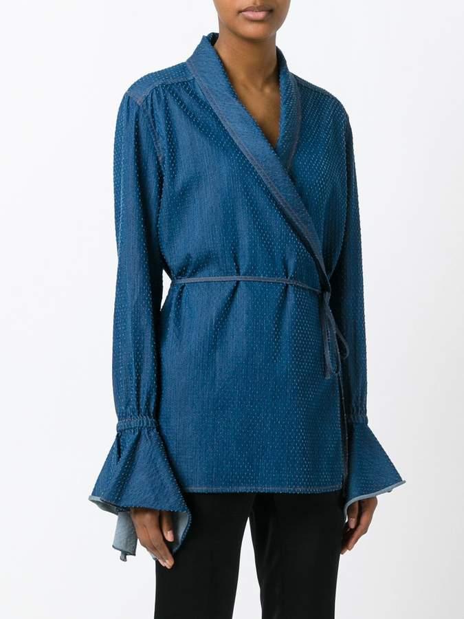 Area wrap blouse