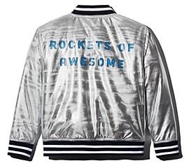 Rockets of Awesome Boys' Metallic Bomber Jacket - Little Kid, Big Kid