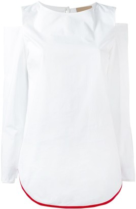 Erika Cavallini Cut-Out Shoulders Blouse