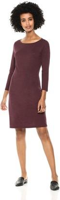 Daily Ritual Amazon Brand Women's Jersey 3/4-Sleeve Bateau-Neck T-Shirt Dress