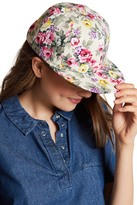 Cara Accessories Flower Print Baseball Cap