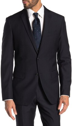 John Varvatos Bedford Navy Pinstripe Two Button Notch Lapel Suit Separates Jacket