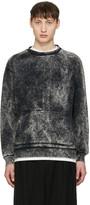 Robert Geller Black Acid Wash Pullover