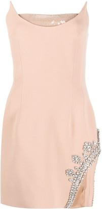 David Koma Embellished Sleeveless Mini Dress