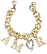 "Thalia Sodi Gold-Tone ""Amor"" Pavé Charm Bracelet, Only at Macy's"