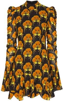 De La Vali Puma ruffle detail mini dress