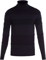 Maison Margiela Roll-neck contrasting-panel sweater
