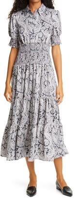 Cinq à Sept Delancey Print Maxi Dress