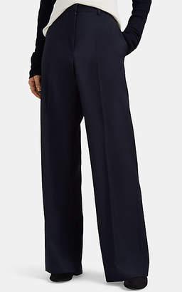 Jil Sander Women's Fluid Virgin Wool Wide-Leg Pants - Navy