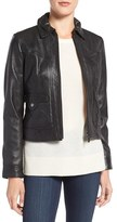 Bernardo Flap Pocket Leather Trucker Jacket