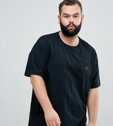 Polo Ralph Lauren big & tall player logo crew neck t-shirt in black