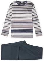 Zimmerli Mercerised Cotton-jersey Pyjama Set - Multi