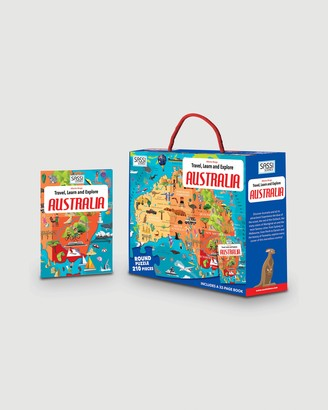Sassi - Blue Puzzles - Travel, Learn and Explore Puzzle & Book Set - Australia - Size One Size at The Iconic
