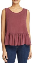 Free People Continental Ruffled Peplum Tank