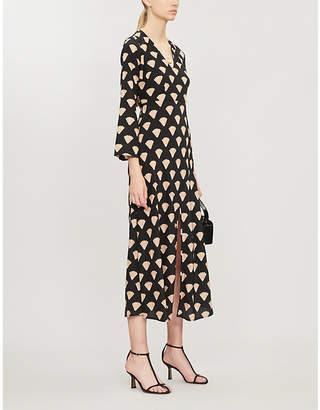 Rixo Nora shell-print silk maxi dress