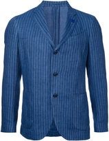 Lardini striped single-breasted blazer