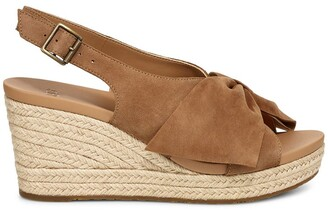 UGG Camilla Leather Wedge Sandals