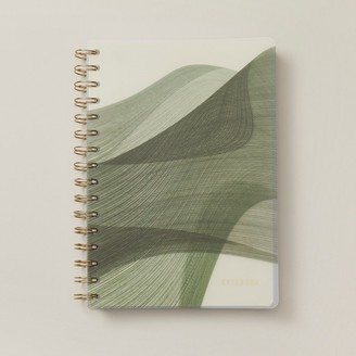 Indigo Paper A5 Polypro Notebook Abstract Cali Coast Waves Green