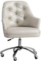 Tufted Desk Chair, Chagne Glitz
