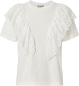 Sea Ruffle Lace Tee