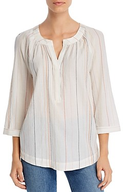 Marled Dot Stripe Tunic Top