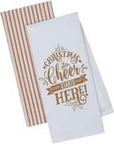 Design Imports Christmas Cheer Cotton Dishtowels (Set of 2)