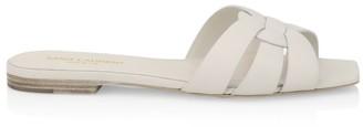 Saint Laurent Nu Pieds Leather Slide Sandals