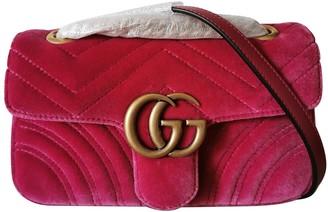 Gucci Marmont Pink Velvet Handbags