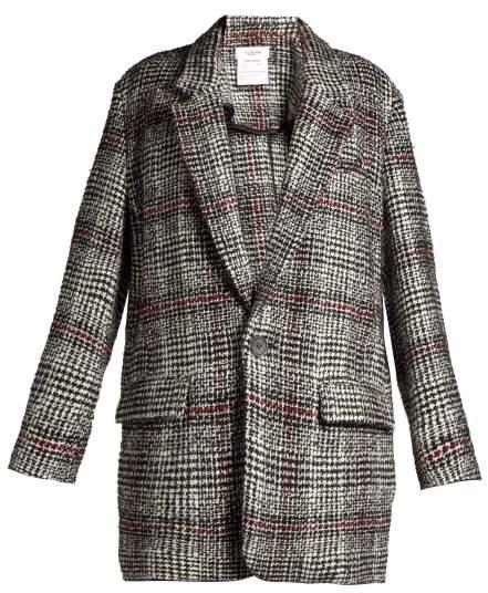 Etoile Isabel Marant Erix Checked Tweed Blazer - Womens - Black White