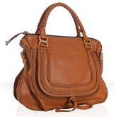 Chloe tan calfskin braided leather 'Marcie' large shoulder bag
