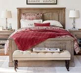 Pottery Barn Linden Wood Paneled Bed