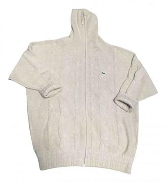 Lacoste Ecru Cotton Knitwear